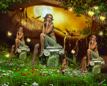 Cute Gingerbread Wallpaper Elf Garden Fantasy Amp Abstract Background Wallpapers On