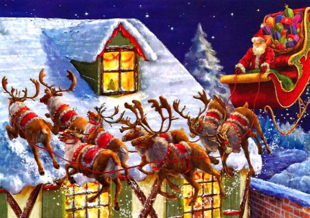 Santas Coming Other Amp Abstract Background Wallpapers On