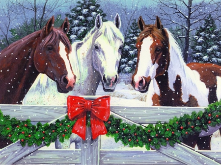 Christmas Horses Other Amp Abstract Background Wallpapers