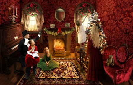Victorian Christmas Other Amp Abstract Background