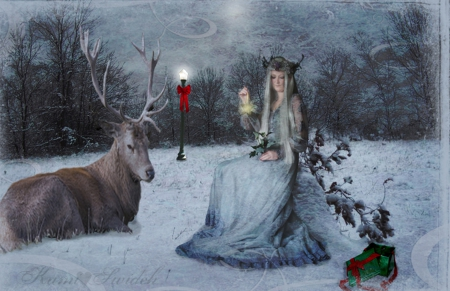 Download Sad Girl In Snow Wallpaper Christmas Spirit Fantasy Amp Abstract Background