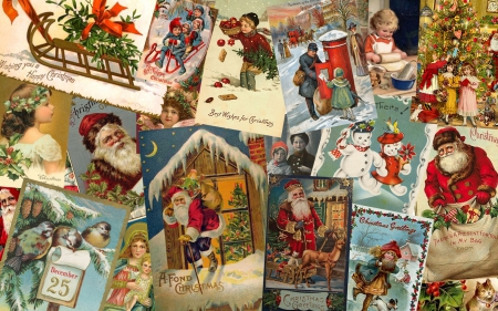 Victorian Christmas Collage Collages Amp Abstract