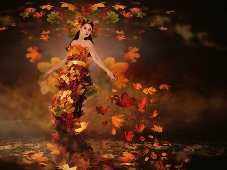 Happy Fall Wallpapers Queen Autumn Fantasy Amp Abstract Background Wallpapers On