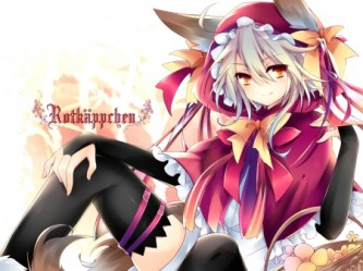 wolf anime hood riding cape bad zerochan character hair cosplay brown pretty ears eyes tail wallpapers request artist