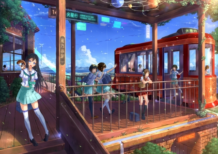 Lovely Cute Girl Hd Wallpaper Train Station Other Amp Anime Background Wallpapers On