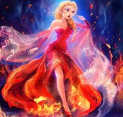 elsa in fire - movies & entertainment
