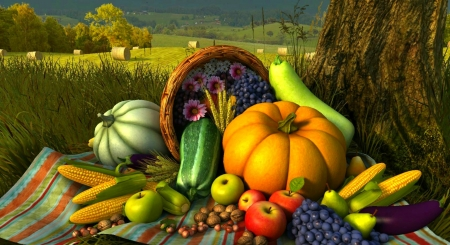 Free Fall Harvest Desktop Wallpaper Autumn Harvest 3d And Cg Amp Abstract Background