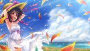 windy day - & anime background
