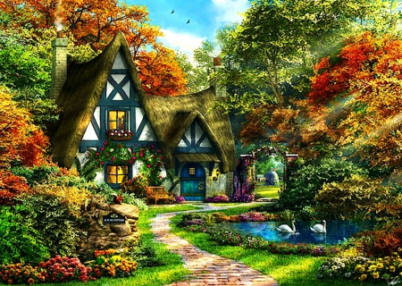 Fall Cottage Wallpaper Autumn Cottage Other Amp Abstract Background Wallpapers On
