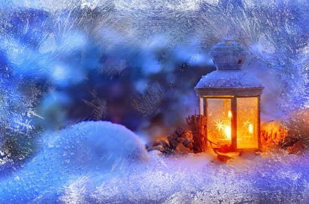 Falling Snow Desktop Wallpaper Christmas Lantern Other Amp Abstract Background Wallpapers
