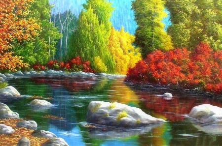 colorful landscapes - lakes & nature