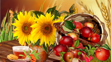 Fall Apples Wallpaper Apple Harvest Flowers Amp Nature Background Wallpapers On