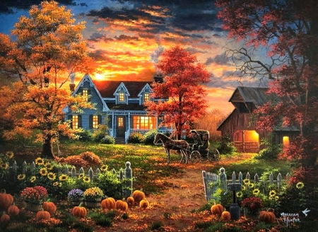 Fall Flowers And Pumpkins Wallpaper Goodbye To The Last Light Of The Fall Sunsets Amp Nature