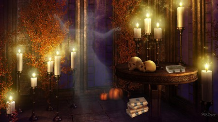 Fall Witch Wallpaper A Mystery Book Comes Alive Fantasy Amp Abstract Background