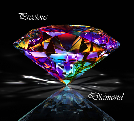 Precious Diamond  3d And Cg & Abstract Background