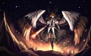 angel of fire - & anime background