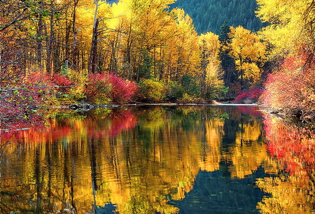 Fall Foliage Wallpaper Screensavers October Lake Lakes Amp Nature Background Wallpapers On