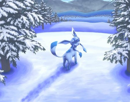 Glaceon  Pokemon  Anime Background Wallpapers on Desktop