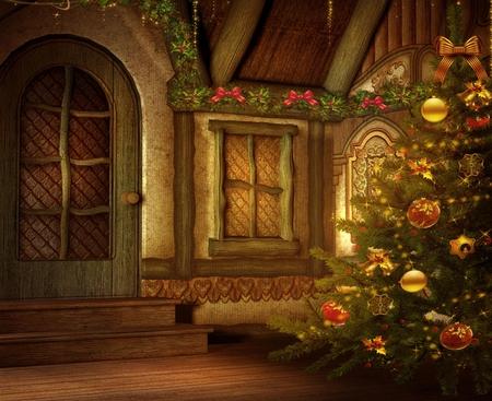 Christmas Tree Fantasy Amp Abstract Background Wallpapers