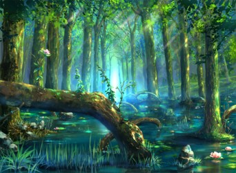 fantasy river landscapes forest background landscape water scenery tree nature abstract garden anime desktop mystical wallpapers weeping willow visit respond