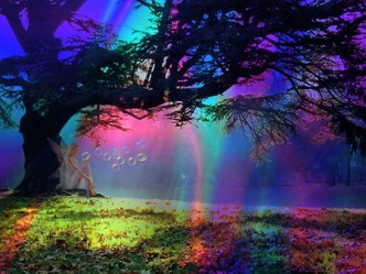fairy abstract tree temple desktop pink forest purple fantasy background orange bubbles wallpapers nexus colors am akashic records medina surya