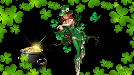 Cute Leprechaun Wallpaper Irish Fairy Fantasy Amp Abstract Background Wallpapers On