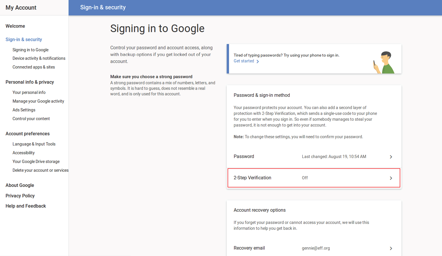How to Turn on 2-Step Verification in Gmail   DNDEmail