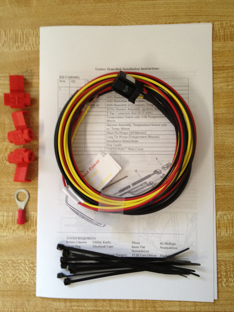 hight resolution of details about gentex 687 453 homelink homelink compass mirror wiring harness for 12pin mirrors