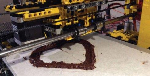 LEGO 3D-tiskalnik, ki 3D-tiska čokolado. (vir: 3dprint.com)