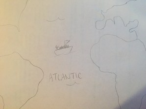 Cortes on his journey to the Americas. For not taking World Geography, I'm okay with this.