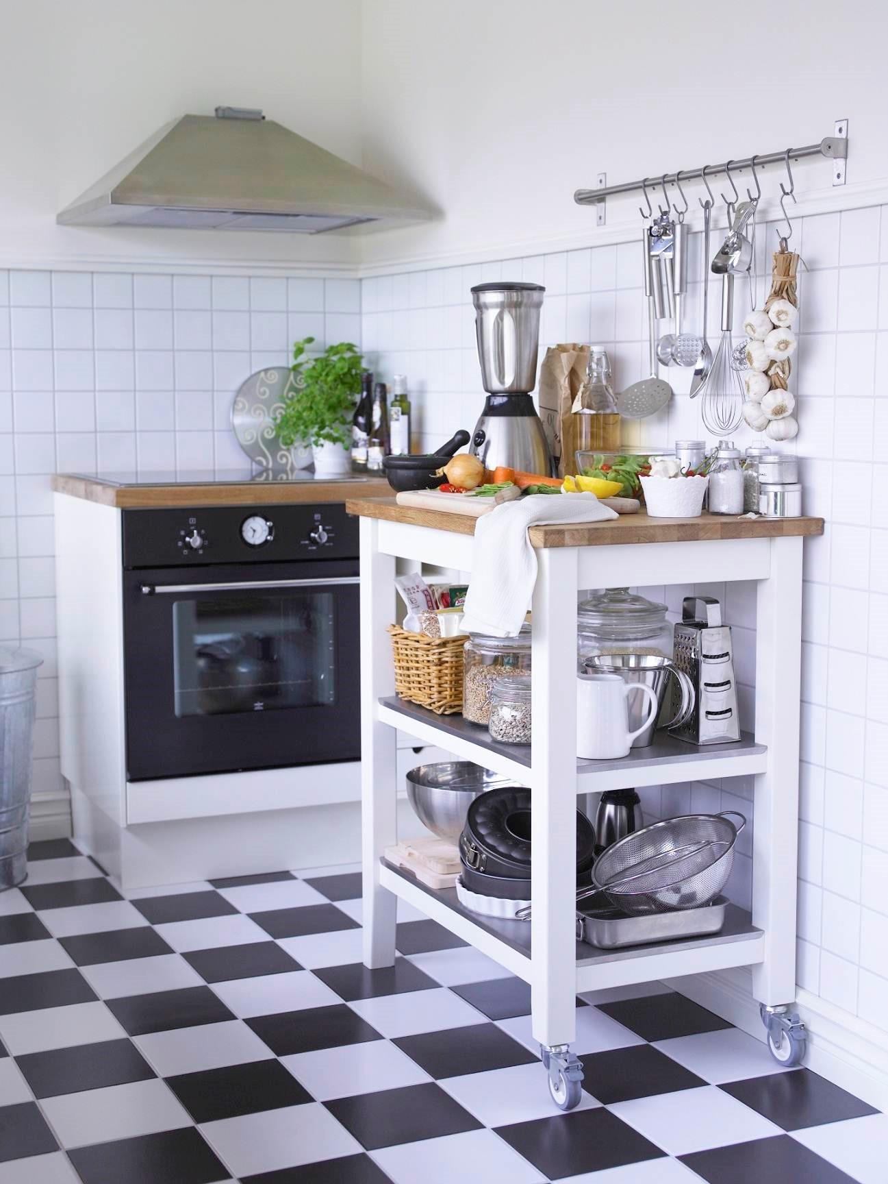ikea kitchen countertops small commercial cost 絕版品出清 精選商品全面5 折起 設計家searchome stenstorp白色橡木廚房推車可提供額外儲物空間及工作檯面