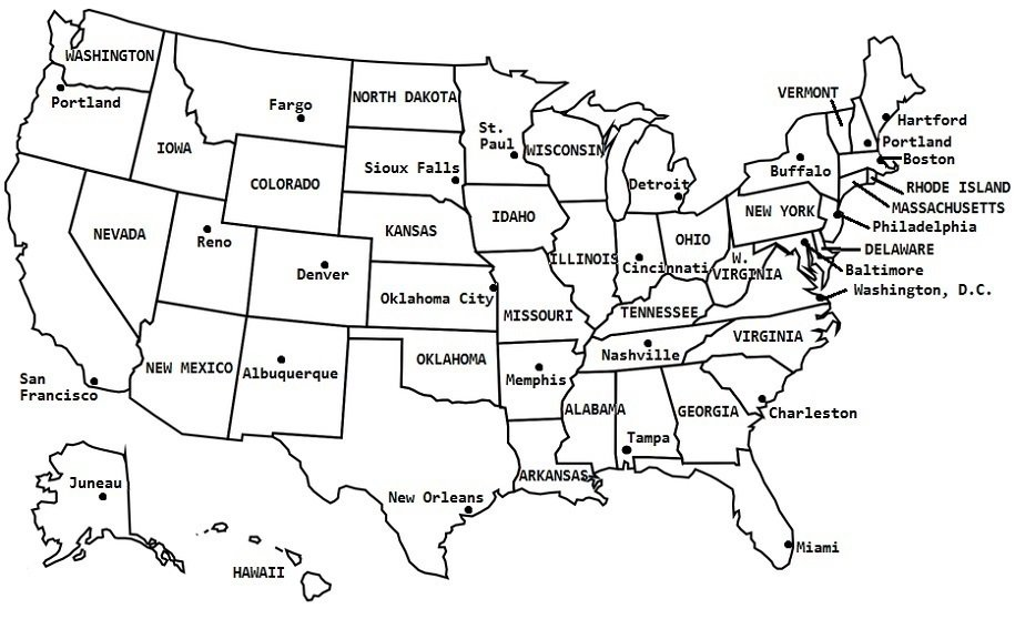 Fix the US Map Quiz