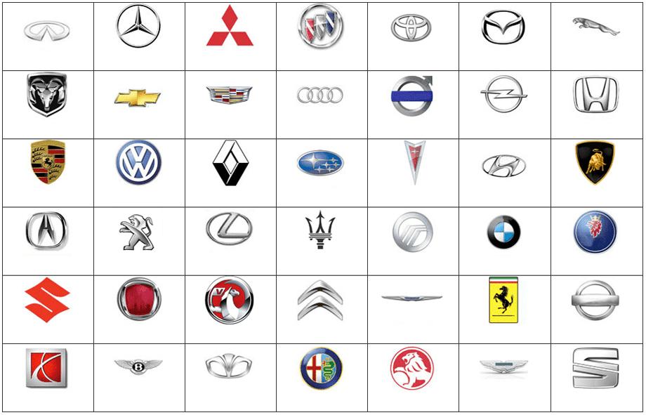 click the car logos