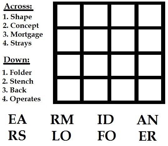 4x4 Word Grid Quiz