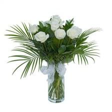 Sugar Flowers Λευκά τριαντάφυλλα στο πράσινο φόντο