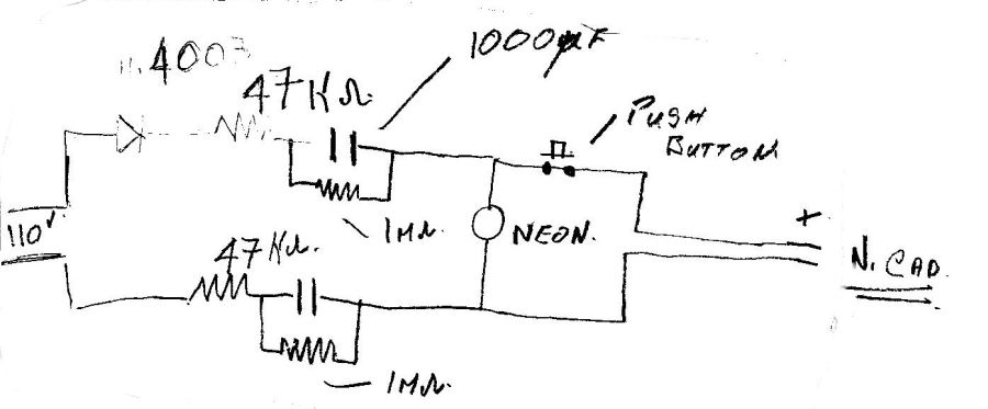 current limiting capacitive battery charger