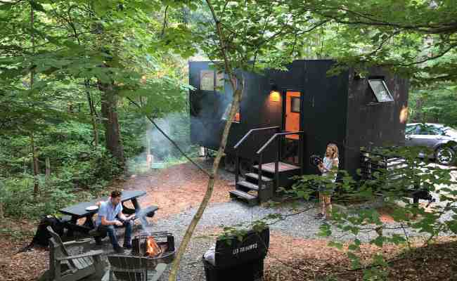 Tiny Cabins In Va S Woods To Slow Down Resync Inner