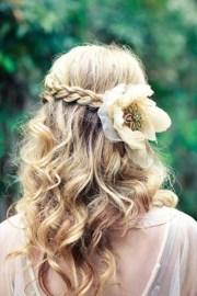 wedding hairstyles curly hair