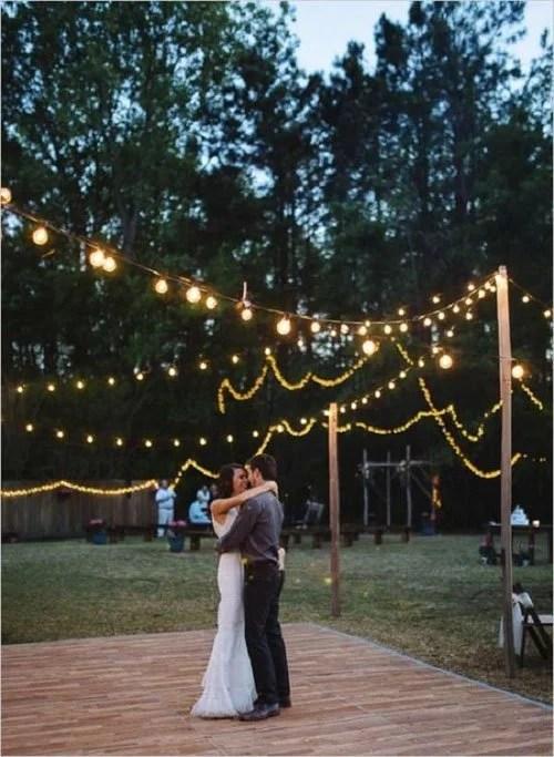 Backyard String Light Ideas