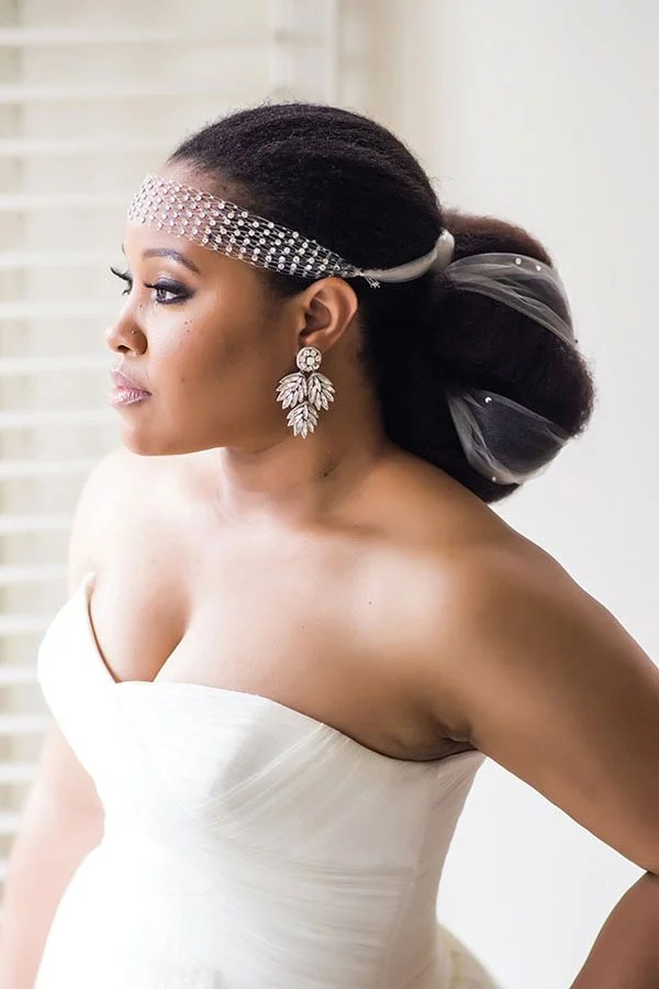8 Glam and Gorgeous Black Wedding Hairstyles