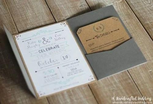 24 DIY Wedding Invitations That Will Save You Money
