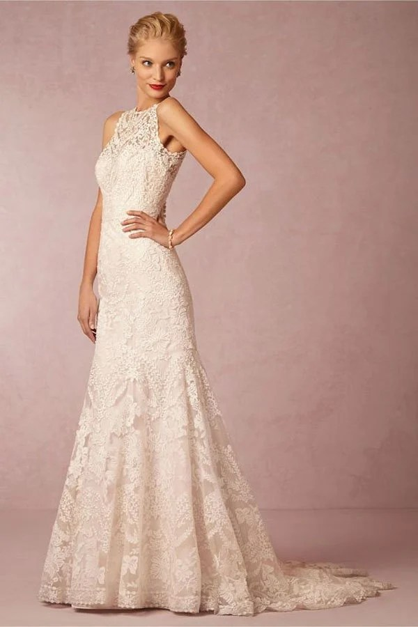 Its All About the High Neck Wedding Dresses Right Now