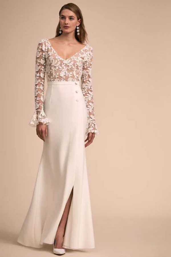 9bdbd4318e 21 Amazingly Beautiful Wedding Dresses Under $1,500 - crazyforus