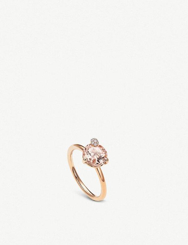 Bucherer Fine Jewellery Peekaboo Rose-Gold and Morganite Ring ($1,430)