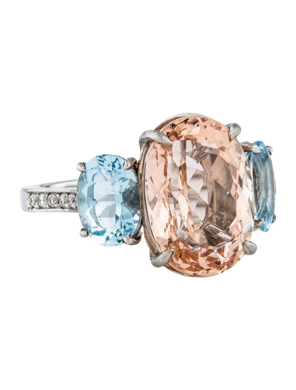 Morganite and Aquamarine Ring ($2,200)