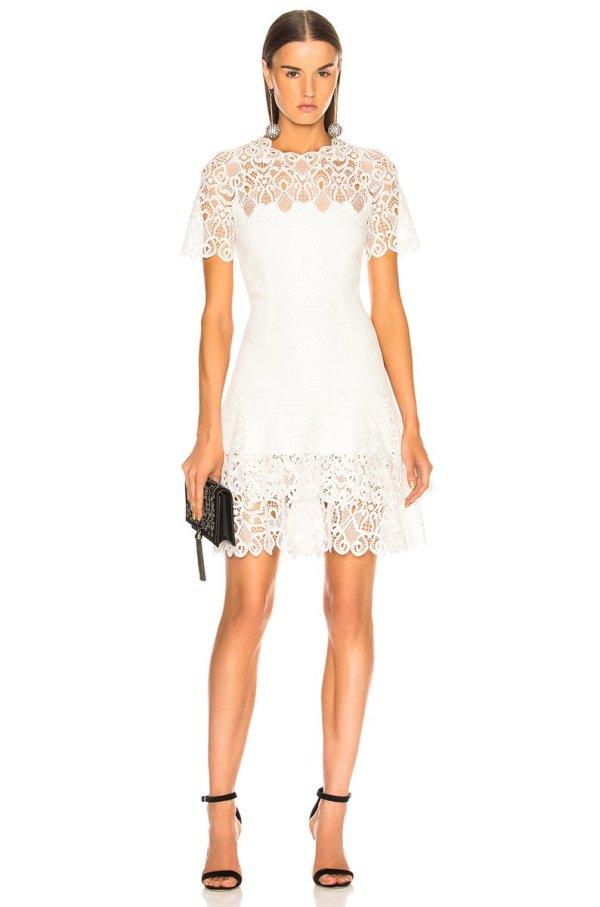 Jonathan Simkhai Mini Tee Dress in White