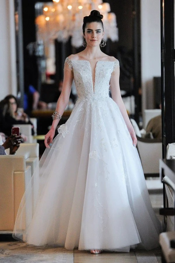 View the latest wedding dress collection from designer Ines Di Santo