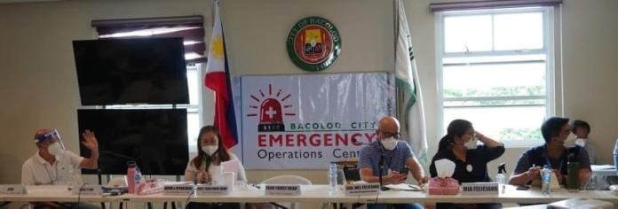 The Bacolod City Emergency Operations Center (EOC) members during the webinar.