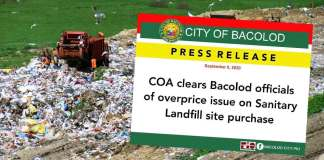 COA clears Bacolod officials of overprice issue on Sanitary Landfill site purchase