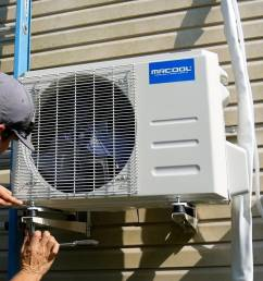 how to install a mini split outside condenser unit secure footing [ 1920 x 1080 Pixel ]